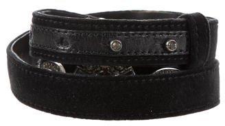 LanvinLanvin Embellished Velvet Belt