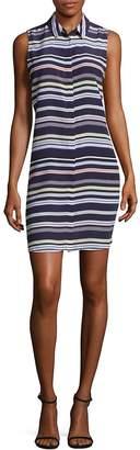 Equipment Women's Striped Silk Shirtdress