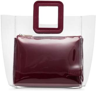 Staud burgundy Shirley leather PVC bag
