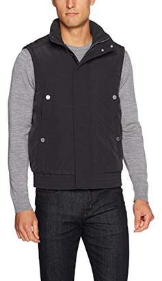 Armani Exchange A|X Men's Solid Puffer Vest with Removable Hood