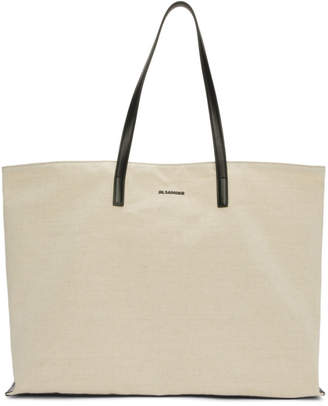 Jil Sander Off-White Canvas Tote