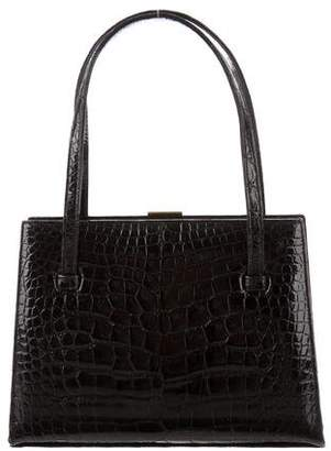 Lambertson Truex Mini Alligator Handle Bag