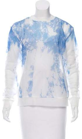 Alexander Wang Alexander Wang Abstract Print Sheer Top w/ Tags