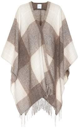 Agnona Checked silk, wool and alpaca cape