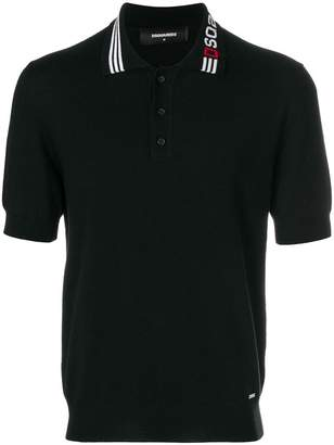 DSQUARED2 logo knitted polo shirt