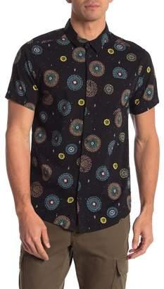RVCA Fireworks Luke Pelletier Short Sleeve Slim Fit Shirt