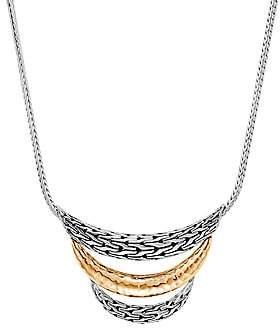 John Hardy Women's Chain Bonded 18K Yellow Gold & Sterling Silver Bib Necklace