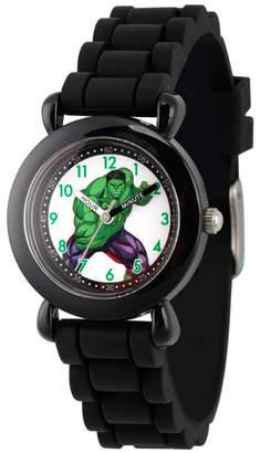 EWatchFactory Marvel's Avengers: Hulk Boys' Black Plastic Time Teacher Watch