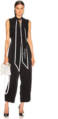 Givenchy Cropped Sleeveless Scarf Top in Black | FWRD