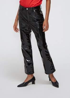 Rosetta Getty Cropped Skinny Flare Pant