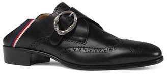Gucci Men's Plata Monk Strap Fold-Down Loafer