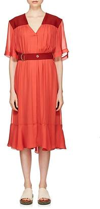 Chloé Women's Belted Crepe & Cady Midi-Dress