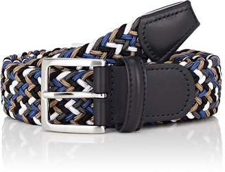 Barneys New York Men's Braided Elastic Belt