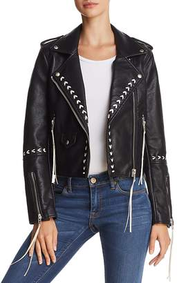 Blank NYC BLANKNYC Stitched Faux Leather Moto Jacket