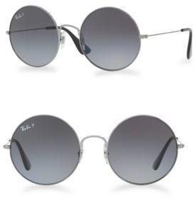 Ray-Ban 55mm Ja-Jo Mirrored Round Sunglasses $175 thestylecure.com
