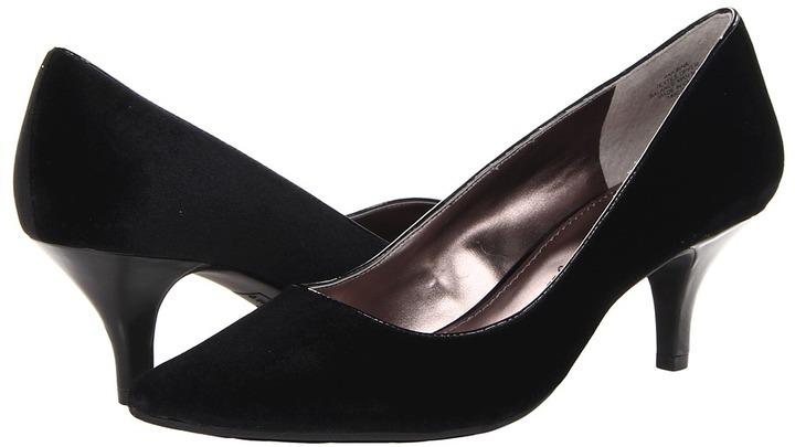 Anne Klein Ionna (Black Velvet) Women's Slip on Shoes
