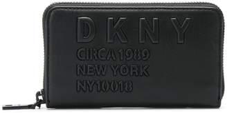 DKNY logo zip-around wallet