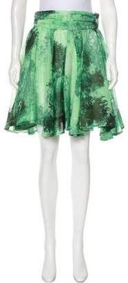 Chris Benz Printed Knee-Length Skirt