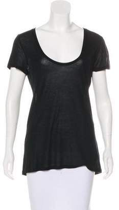 L'Agence Short Sleeve Scoop Neck Top
