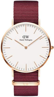 Daniel Wellington Classic Nylon Strap Watch, 40mm