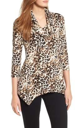 Chaus Cowl Neck Leopard Top