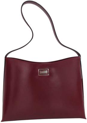 Burberry Burgundy Leather Handbag