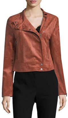 BCBGMAXAZRIA Suede Moto Jacket