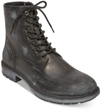 Steve Madden Self Made by Men's Smoky Leather Boots Men's Shoes