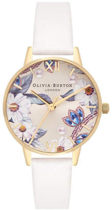 Olivia Burton OB16BF14 Bejewelled Florals Gold & Nude Watch