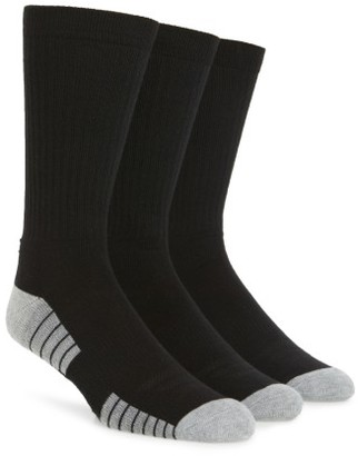 Men's Under Armour Heatgear 3-Pack Crew Socks $16.99 thestylecure.com