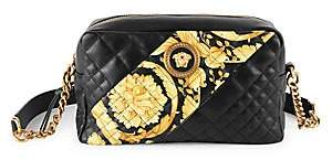 Versace Women's Icon Barocco Stripe Quilted Leather Crossbody Bag