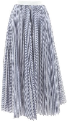 Sacai Luck Blue Cotton Skirts