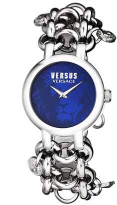 Versus By Versace Women's 'AGADIR' Quartz Stainless Steel Casual Watch, Color:Silver-Toned (Model: SGO220016)