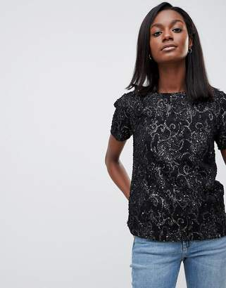 Oasis Baroque Textured Shell Top