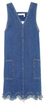 See by Chloe Sleeveless denim dress