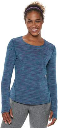 Tek Gear Petite Thumb Hole Long Sleeve Tee