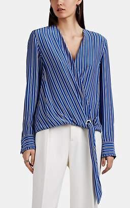 Rag & Bone Women's Felix Striped Silk Wrap Blouse