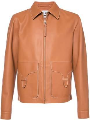 Loewe zip leather jacket