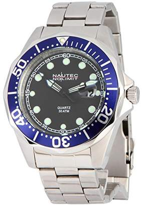 9bf6dfb836f at Amazon.co.uk · Nautec No Limit DSB-QZ-STSTBLBK Deep Sea Bravo Men's Watch  XL Quartz Stainless
