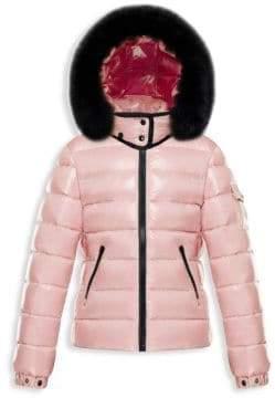 Moncler Little Girl's & Girl's Bady Fox Fur-Trimmed Jacket