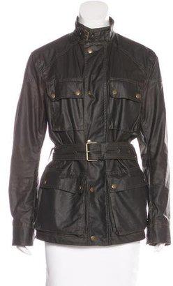 Belstaff Coated Long Sleeve Jacket $300 thestylecure.com