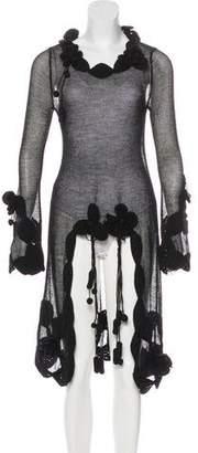 Chanel Wool-Blend Open Knit Dress