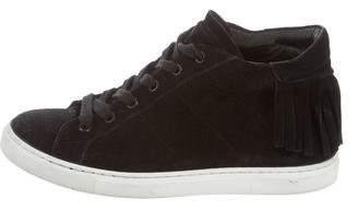 IRO Suede Fringe Sneakers