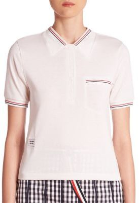 Thom Browne Striped Polo Shirt $390 thestylecure.com