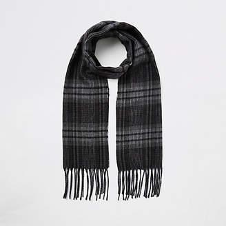 River Island Boys Grey check scarf
