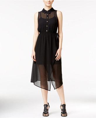 kensie Illusion Chiffon Shirtdress $99 thestylecure.com