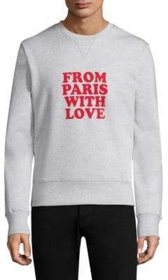 Ami From Paris With Love Cotton Sweatshirt