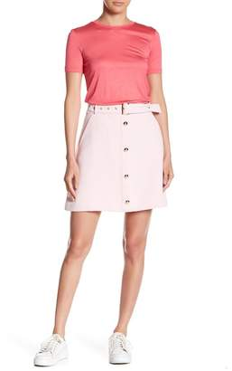 Endless Rose Button Front A-Line Skirt