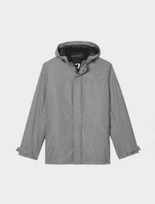 Donna Karan Donnakaran Hooded City Parka With Down Liner Charcoal XS