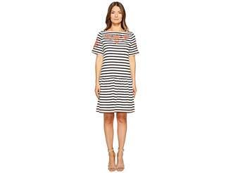 Kate Spade Stripe Embroidered Dress Women's Dress